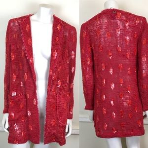 Save the Queen Knit Sequined Cardigan Sweater